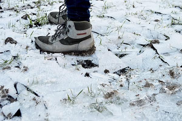 hielo-botas
