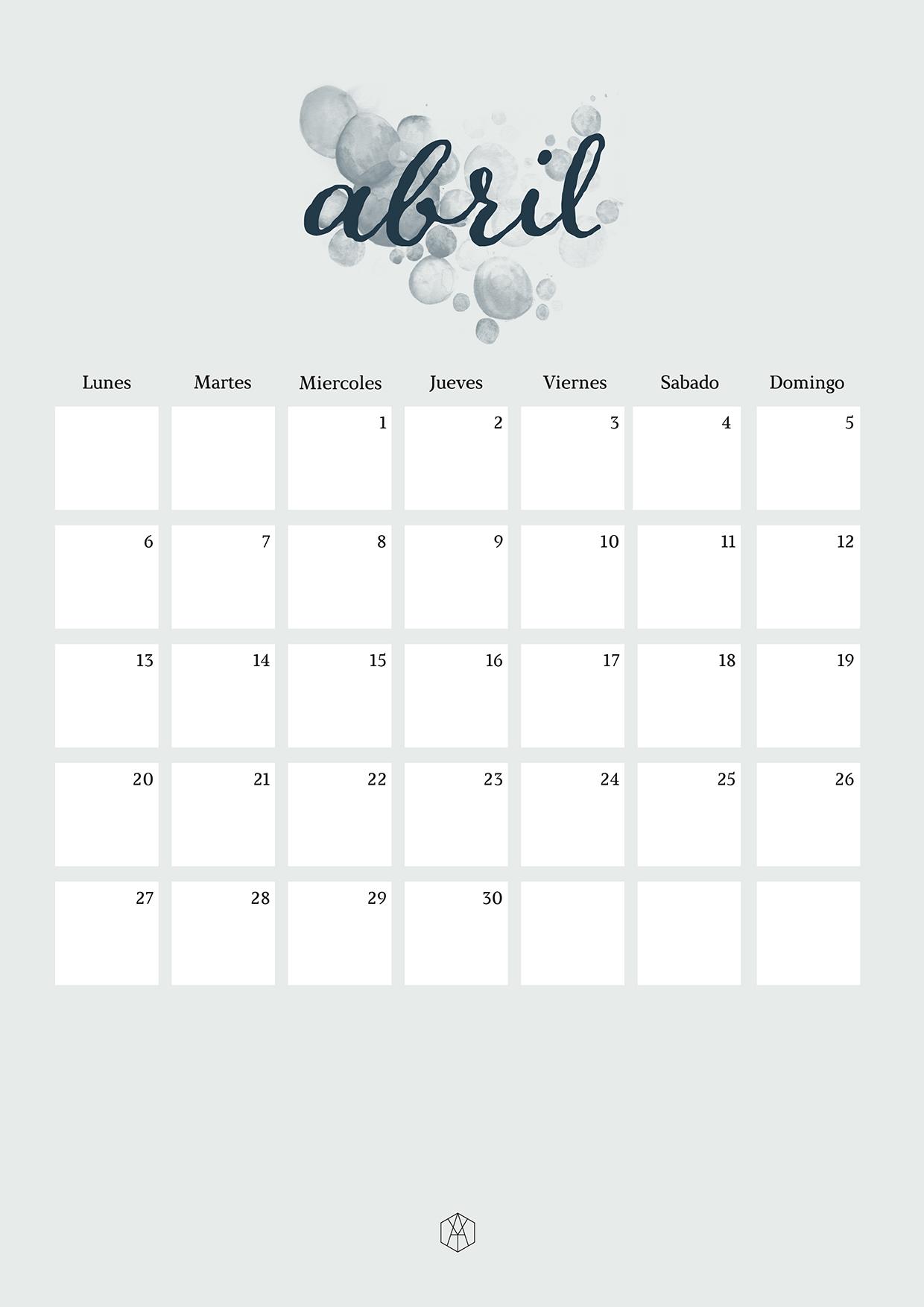 461c3c55e Calendario Abril versión horizontal · Calendario Abril versión vertical
